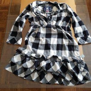 PINK Flannel Ruffle Dress
